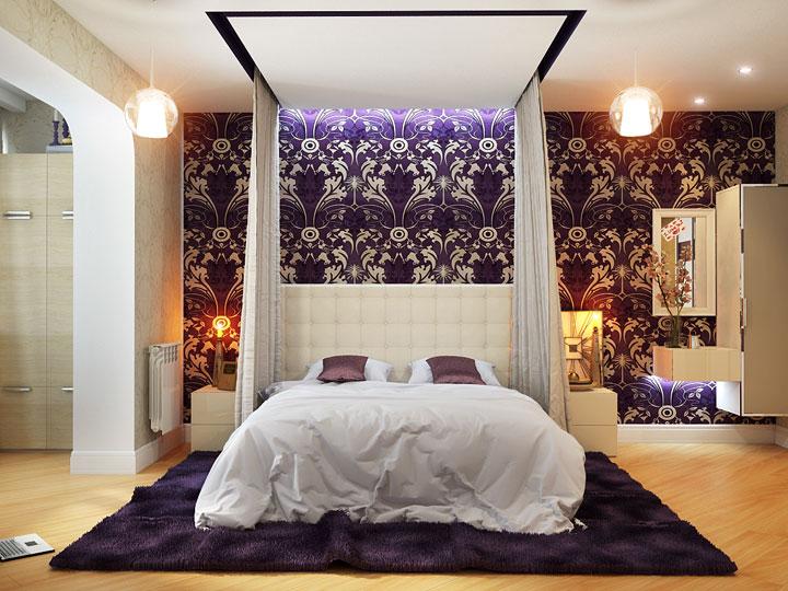 современная комната с балдахином