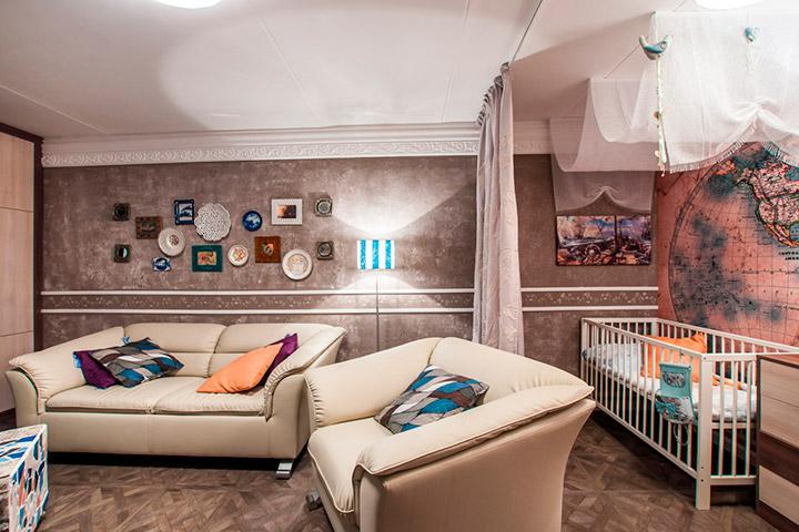 детская зона в гостиной