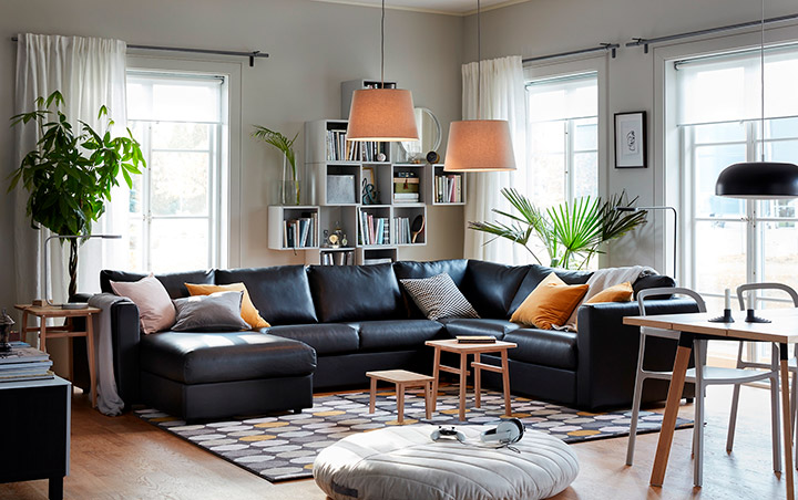 мебель икеа в зале