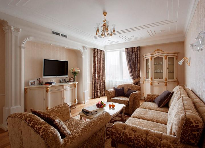 классическая обстановка гостиной