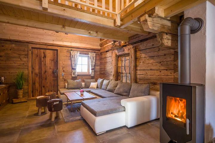 гостиная в стиле шале 20 фото интерьеров правила выбора мебели и