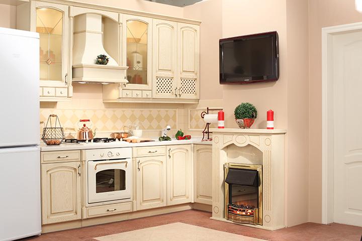 как декорировать короб на кухне