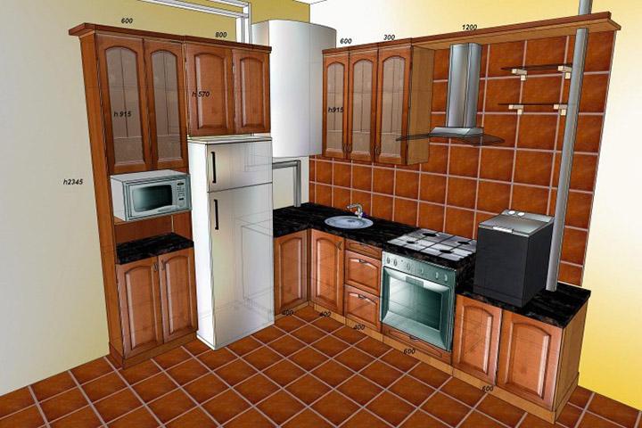 макет кухонного гарнитура