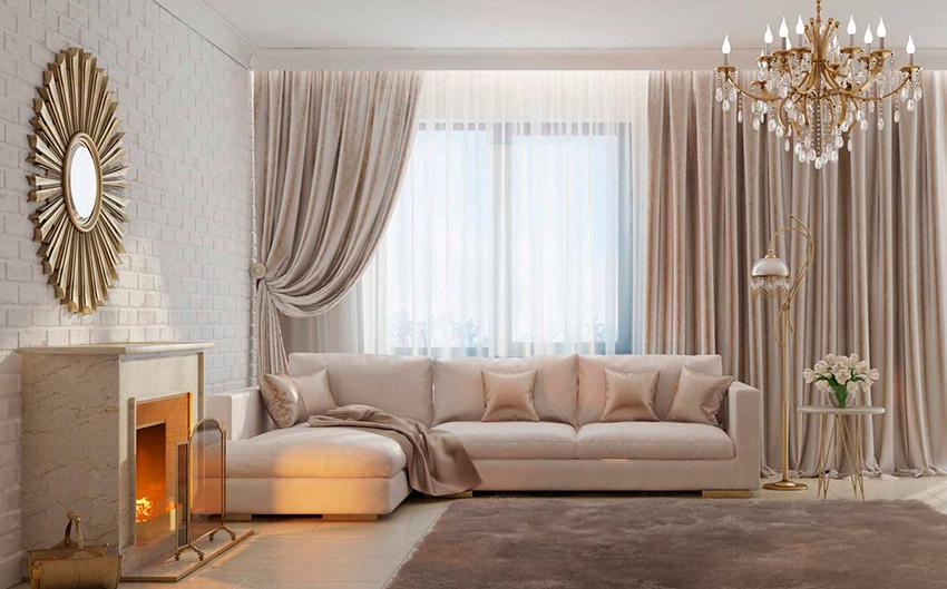 Декоративные шторы для гостиной: особенности выбора