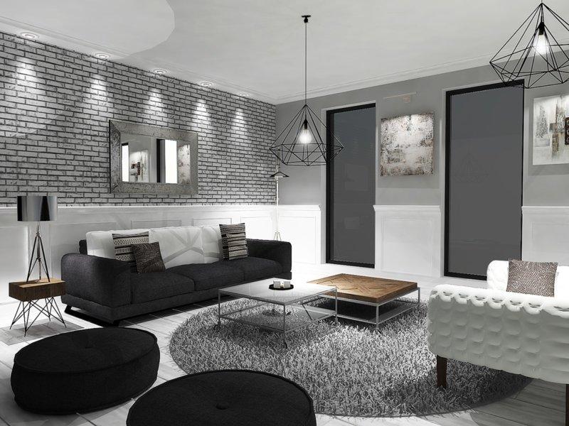 минималистичная гостиная