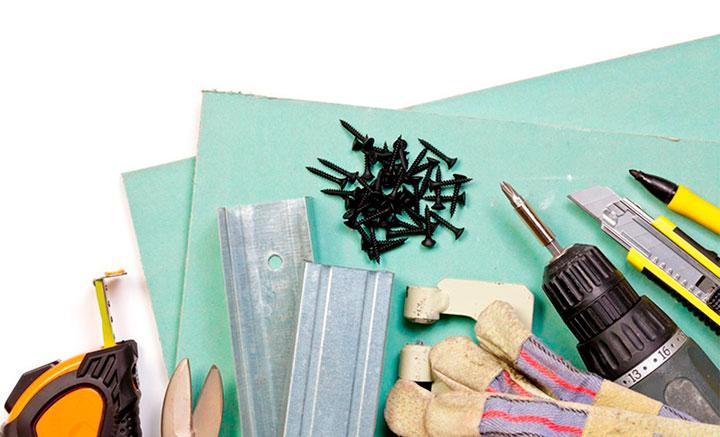 материалы для работы с гипсокартоном
