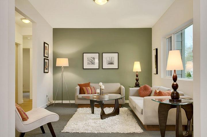 стена оливкового цвета