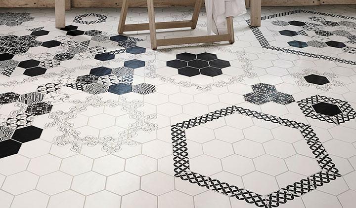 шестиугольная плитка на полу
