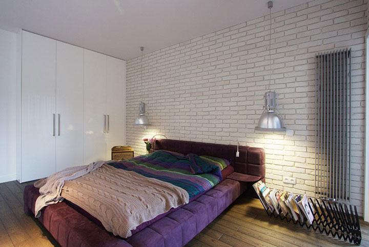 дизайн спальни св стиле лофт