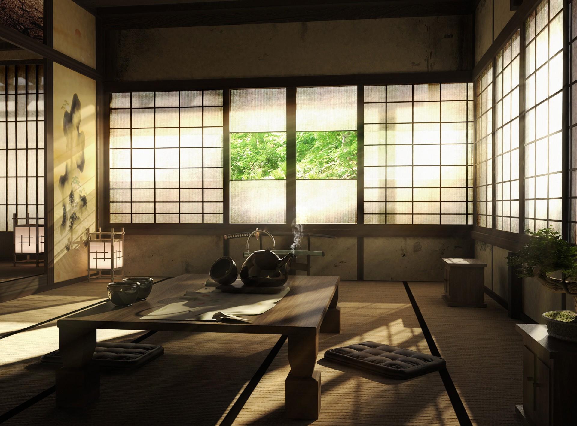 отделка в японском стиле